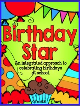 Birthday Star Book..English Language Arts, Math, Graphing, Writing, Holidays/Seasonal  Grade:1st, 2nd This packet includes: Birthday Star Book cover (boy version, girl version, star version) Birthday Star parent  note Birthday Star book pages - variety of pages to choose from.There is also a bonus birthday graph included, too.