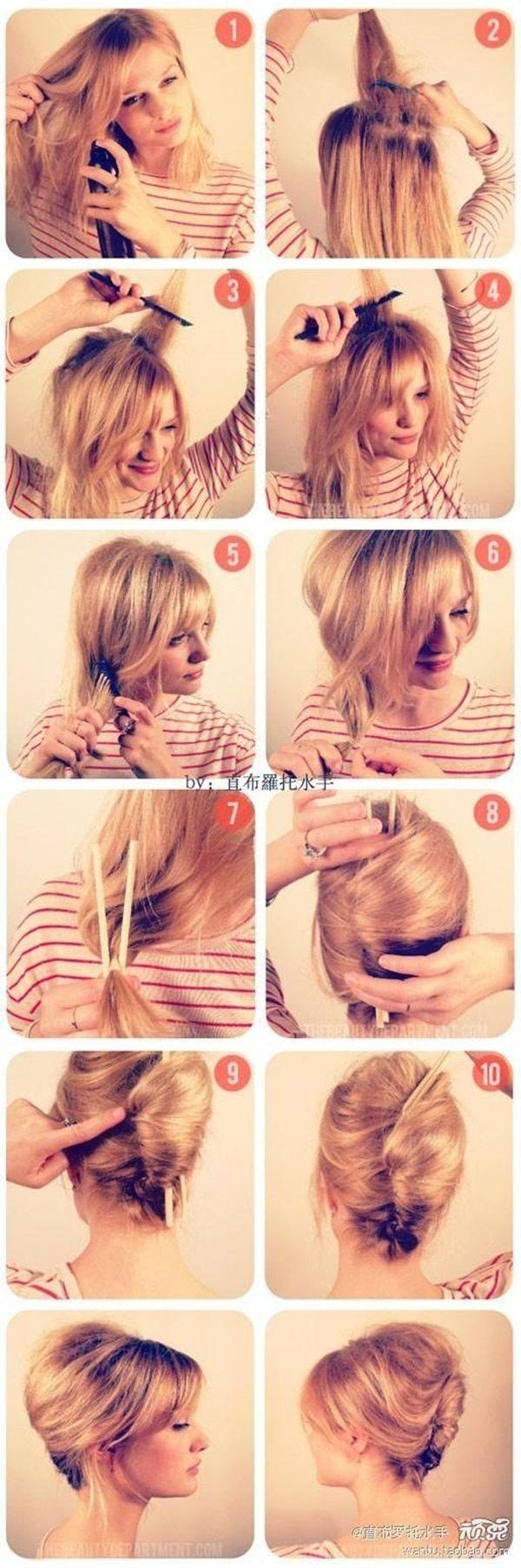 8 Besten Businessfrisur Bilder Auf Pinterest Haarknoten Frisur