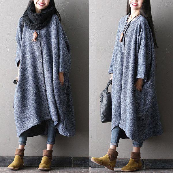 Vrouwen winter wol Onregelmatige verdikking jas - Tkdress - 1