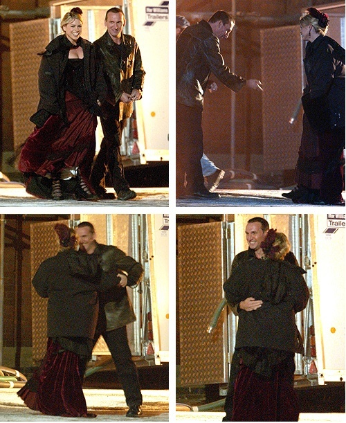 More Eccleston/Piper behind the scenes dancing.  I pinned the grin earlier, but here's the rest.