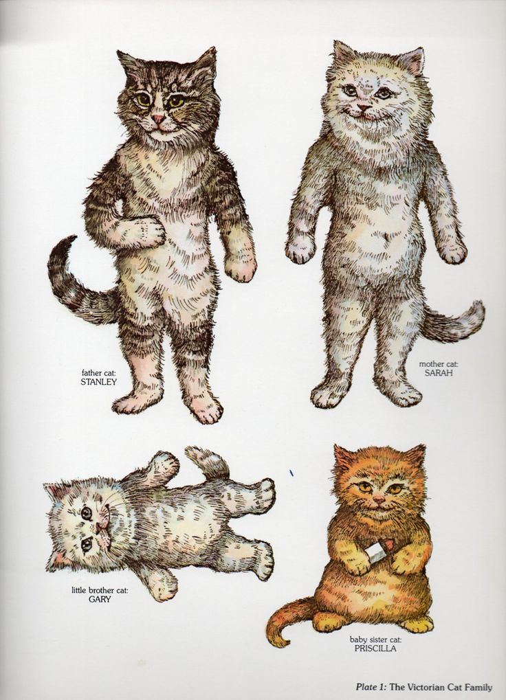cat paper dolls - Google Search                                                                                                                                                                                 More