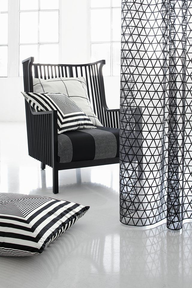 Stylish Curtains With Graphic Pattern Textiles Designed By JAB Anstoetz VAN VUGHT Interiors