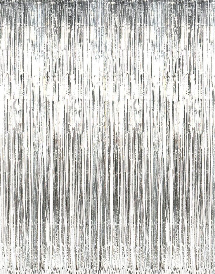 SUNBEAUTY Big 3ft x 8ft Fringe Foil Curtain Party Tinsel Backdrop Party Wedding…