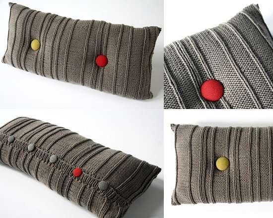 Gri düğmeli yastık modeli