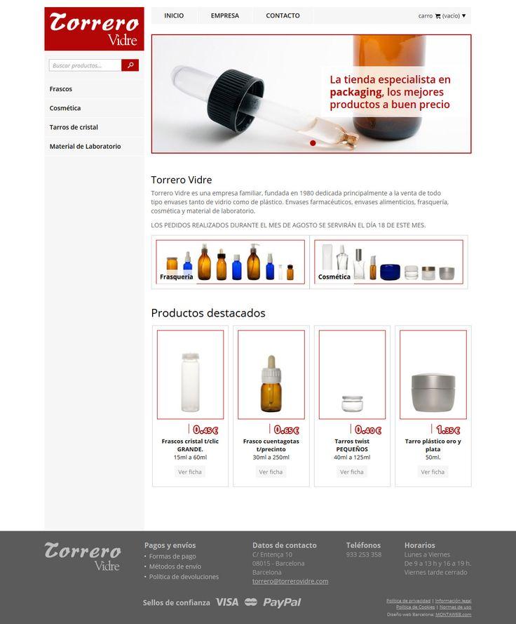 Torrerovidre.com es una #webshop dedicada principalmente a la venta de todo tipo #envases tanto de vidrio como de plástico. La #tiendaonline se estructura de forma sencilla y atractiva para los potenciales compradores.