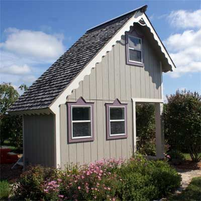 It's all about the trim work in this quaint garden shed and backyard retreat. | thisoldhouse.com: House Readers, Tiny House, This Old House, Sheds Guest Houses Cabanas, Mommy Playhouses, Thisoldhouse Com, Old Houses, Photo