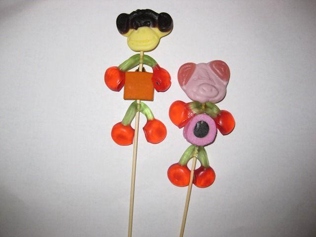 Candy on toothpick-    snoep op prikker