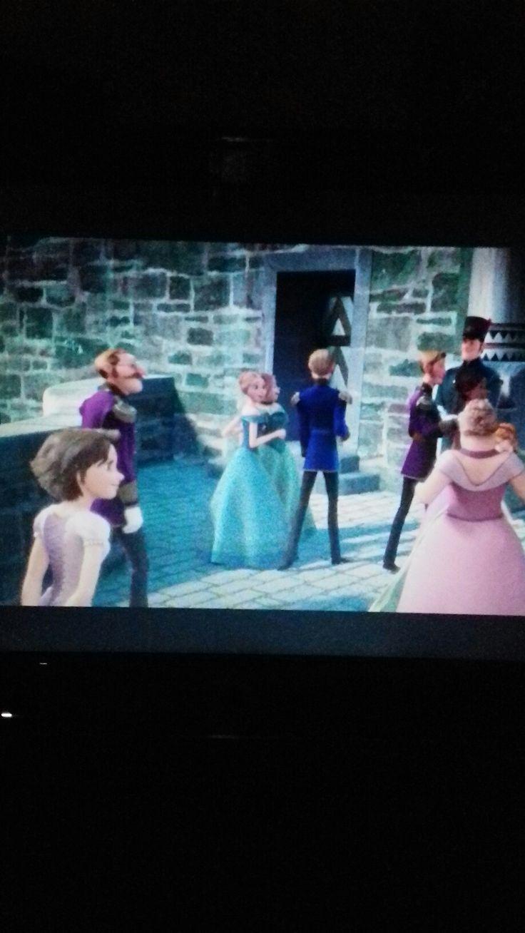 That is Rapunzel in Frozen...