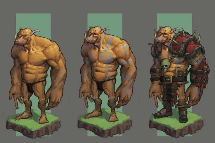 Orc warrior concept by ~awesomeplex on deviantART
