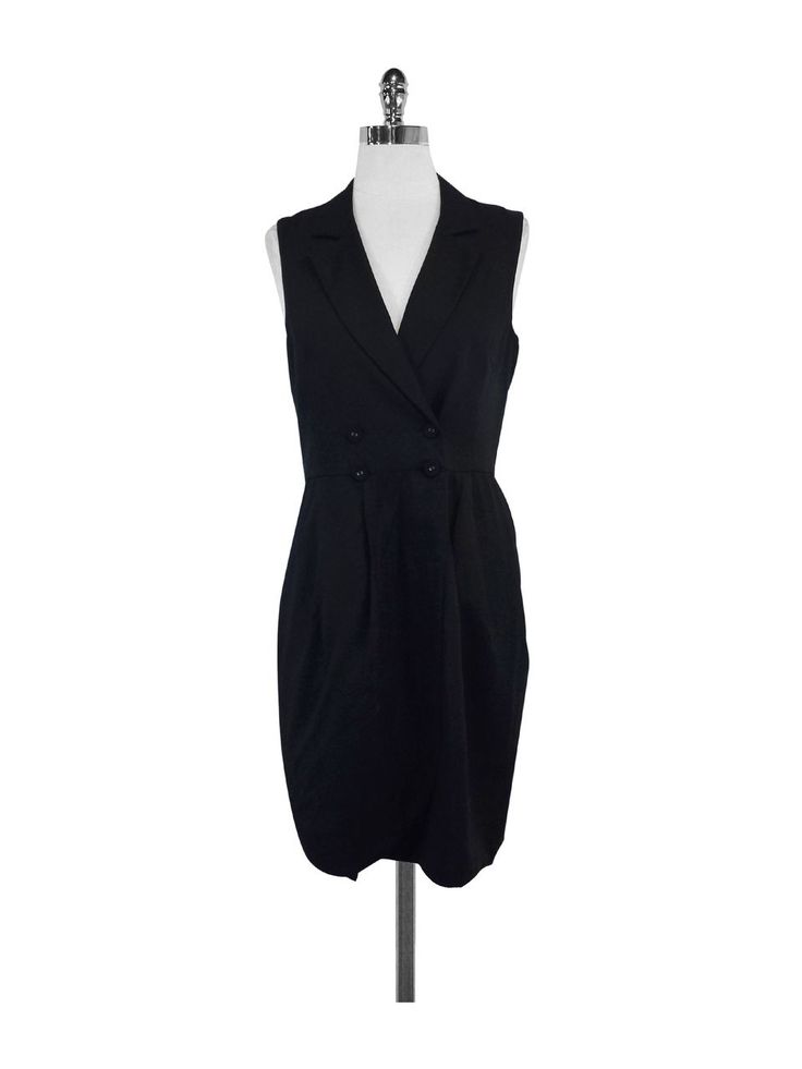 Charlotte Ronson- Black Sleeveless Dress Sz 8