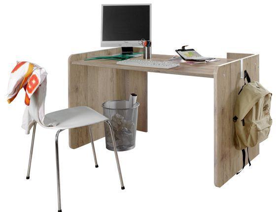 Schreibtisch in San Remo und Weiß - ein Arbeitsplatz zum Wohlfühlen