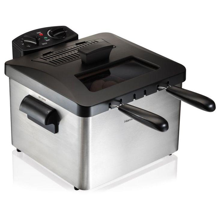 Professional-Style 3-Basket Deep Fryer, Silver