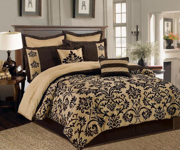 12 Piece Queen San Marco Bed In A Bag Set Adult Bedroom