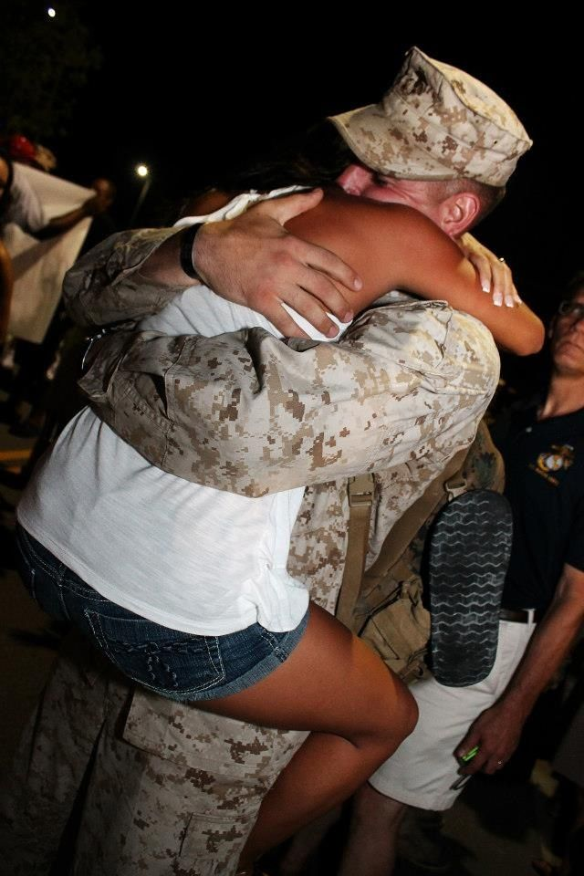 Marine homecoming daughters fiancé.