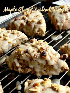 These maple glazed walnut scones are the best I've ever had. Surprise your family with a tea time treat or a special breakfast!