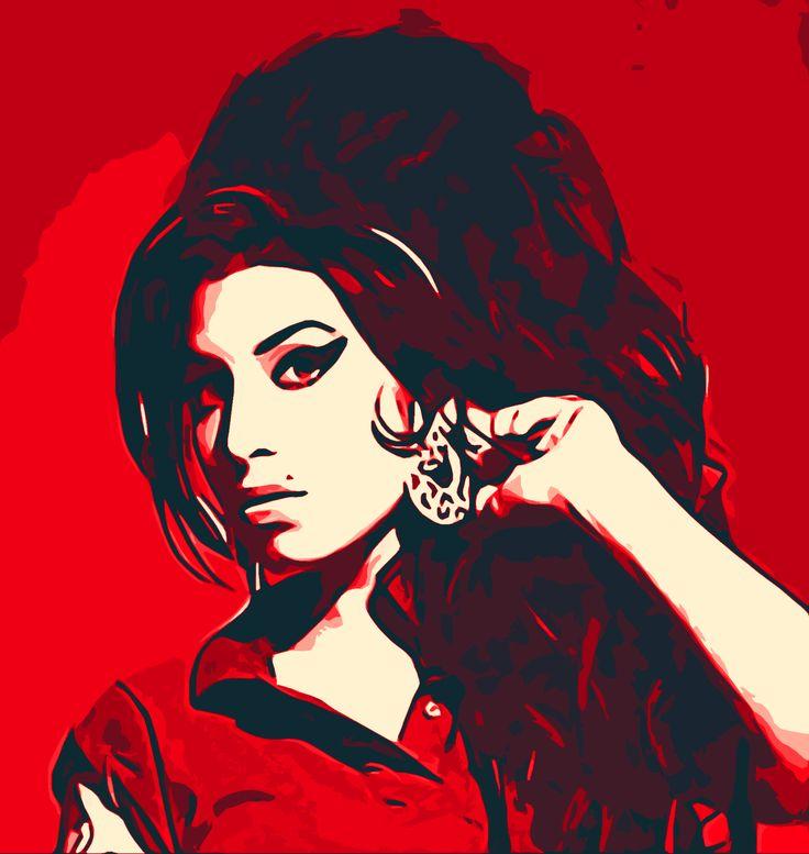 Amy Winehouse Pop Art Portrait #popart #urbanart #portrait #amywinehouse