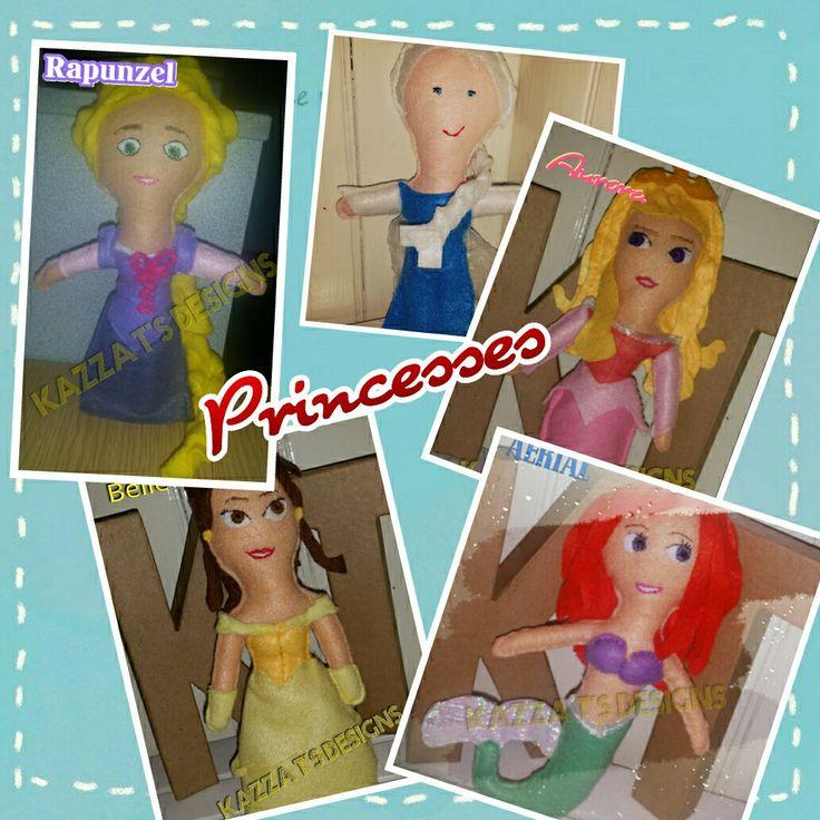 Disney Princesses handmade felt plush doll #kazzatsdesigns #feltplushdolls #beingcreative #favecharacters #disney #princess