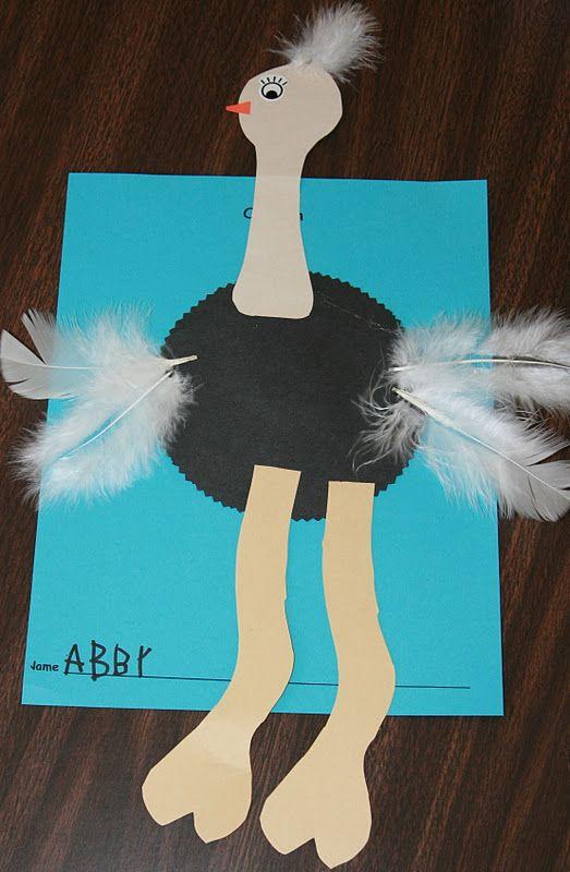 Nancy Nolan's Kindergarten: Ostrich  other Oo week ideas