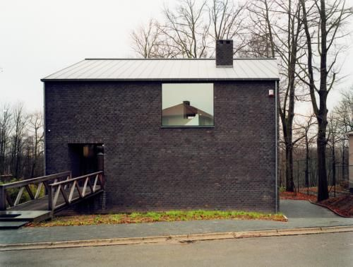 Verkest House, Grimbergen, Belgium, 2006  'The house as a recognizable icon with door, window, chimney and roof cap'
