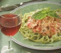 Pasta Met Champignons, Spekjes En Tomaten-wodka-knoflookroom recept | Smulweb.nl