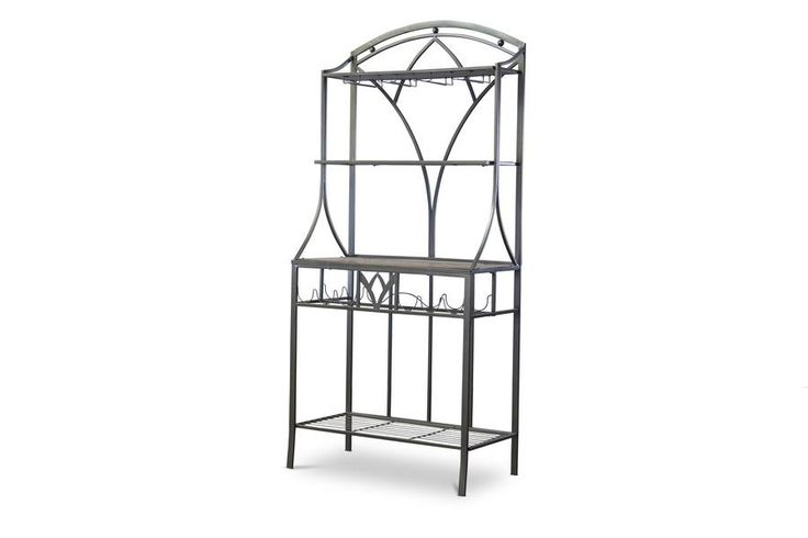 Margaux Wood and Metal Transitional Baker's Rack WL-0468-WI