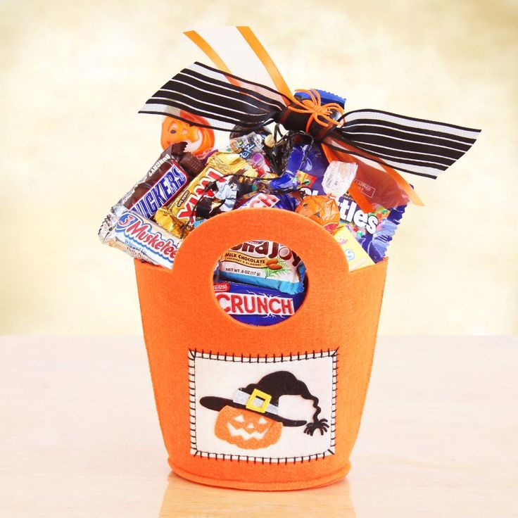 Happy Halloween Candy Gift Tote Gift Basket - 7408