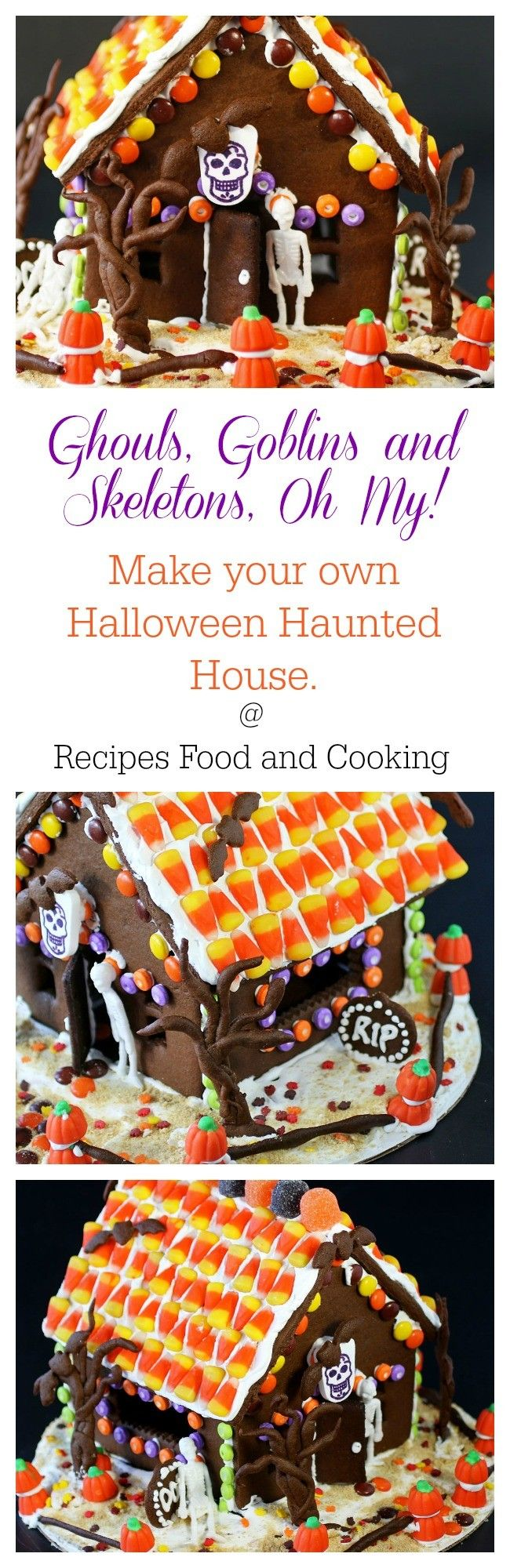 Halloween Chocolate Gingerbread House with Dixie Crystals - Recipes Food and Cooking #SundaySupper