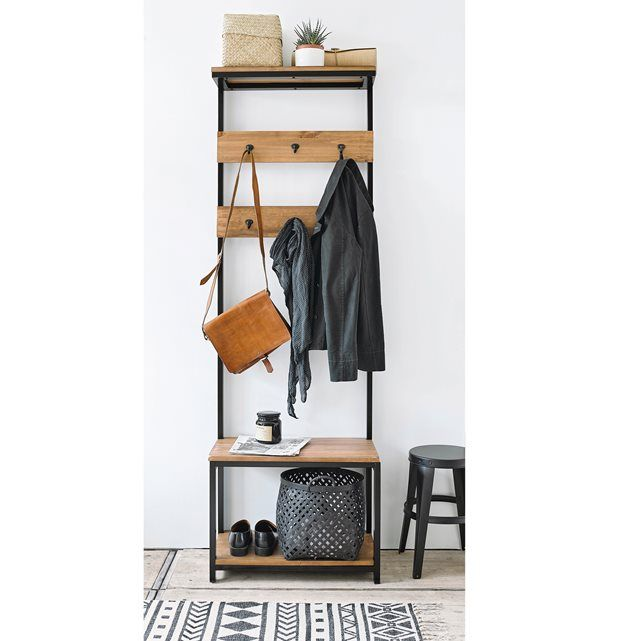 HIBA Hall Stand La Redoute Interieurs : price, reviews and rating, delivery. The Hiba hall stand is a practical addition to any hallway with a contemporary industrial look.Description of Hiba hall stand: 6-Hook Coat Rack Features of Hiba hall stand: Solid pine with nitrocellulose varnish. Metal coat hooks Discover other items from the Hiba collection online at laredoute.co.uk Size of Hiba hall stand: 6 hooks. Width: 60 cm Height: 184.3 cm Depth: 35 cm Size and weight of parcel: 1 parcel. 191…