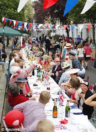 Royal Wedding/Jubilee street party  London