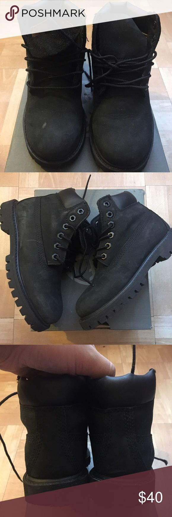 Boys timberland boots Good used condition small flaws Timberland Shoes Boots