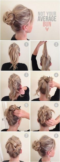 6. Not Your #Average Bun - 25 Becoming Ways to Wear a Bun ... → #Hair #French
