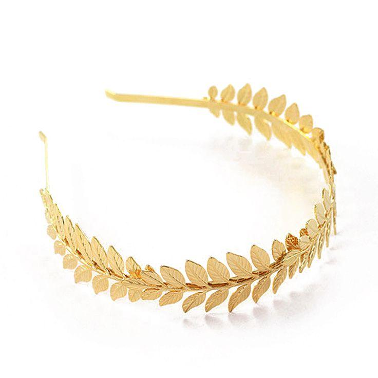 Mode vergulde barokke leaf hoofdband haarband voor vrouwen bruiloft haaraccessoires tiara hoofddeksel sieraden