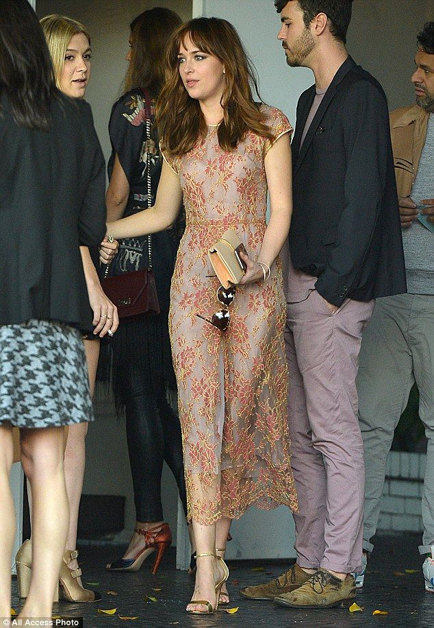 Looking good: Dakota Johnson made an appearance at the CFDA Vogue Fashion Fund event in Lo...