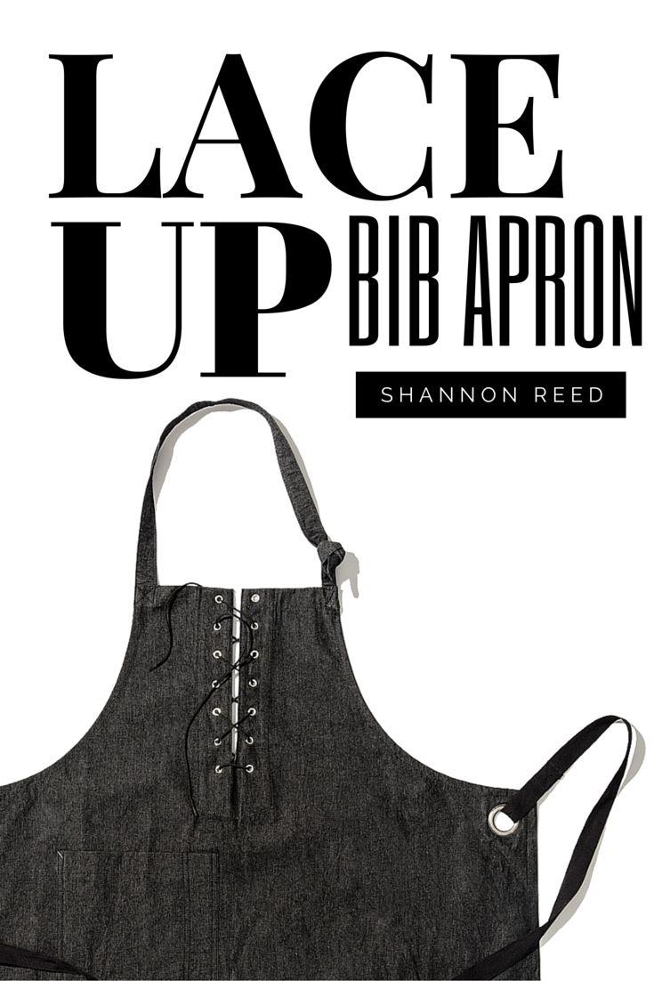 White apron brisbane - Lace Up Bib Apron