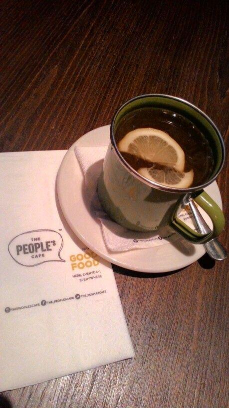 Hot lemon tea at The People's cafe, Setiabudi