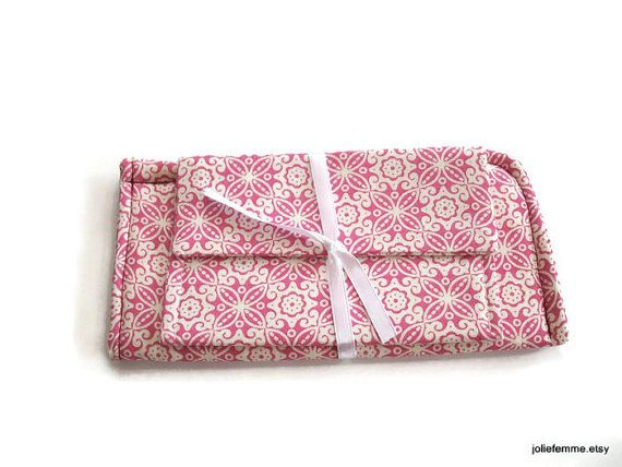 Icy Pink Snowflake Lace Matching Set Eyeglass Case by joliefemme