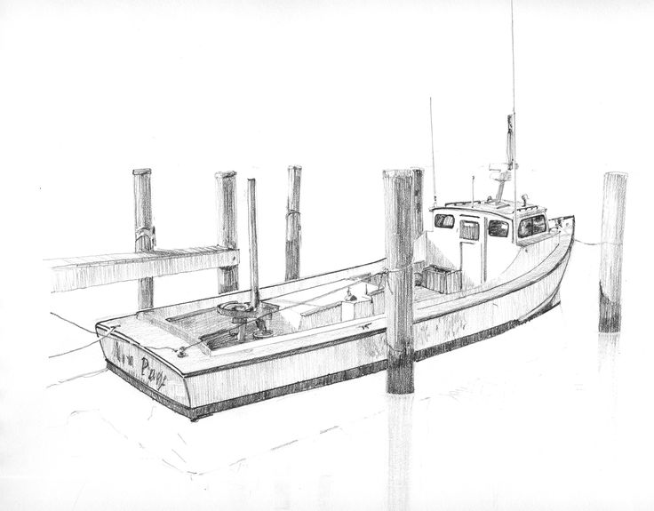 Pencil drawing chesapeake crab boat scott 39 s drawings for How to draw a fishing boat