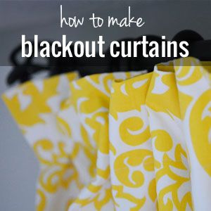 How to make Blackout Curtains Tutorial - step by step pictures for how to make your own blackout curtains.