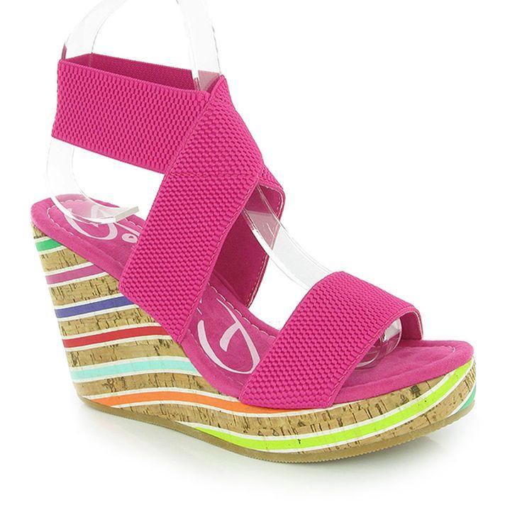 Rocket Dog Gabrielli Pink Platform Multi Colour Wedges www.eshoesdirect.co.uk #shoes #loveit #shoeaddict