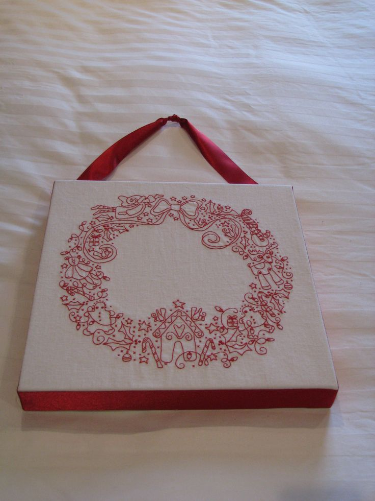 Rosalie Quinlan's Christmas Wreath embroidery