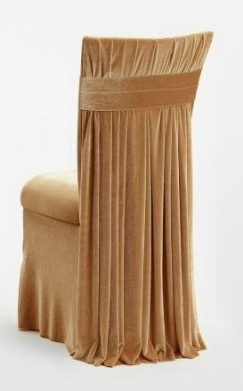 Elegant slipcover for chair dressing