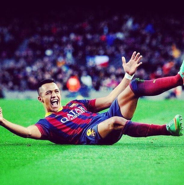 Alexis Sanchez Hat trick FC Barcelona