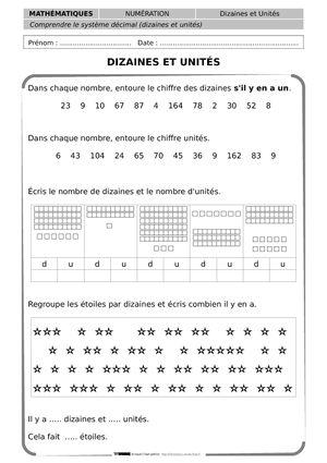 CE1 - Libresdocs - 15 fiches de numération, existe aussi en géométrie et autres !!