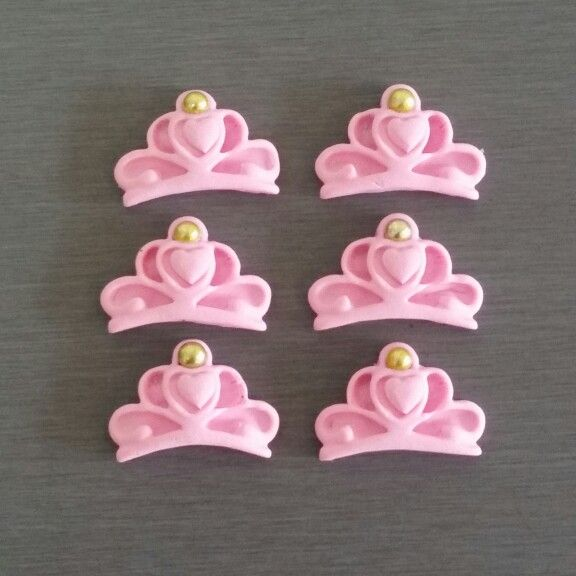 Fondant Crown Cupcake Toppers or Cake Decorations
