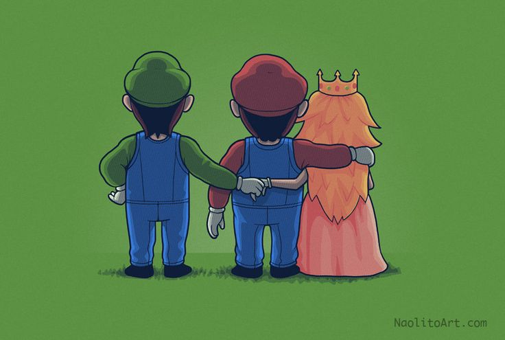 Digital art selected for the Daily Inspiration: Geek, Princess, Secret Love, Peach, Funny Stuff, Videogame, Video Games, Humor, Mario Bros