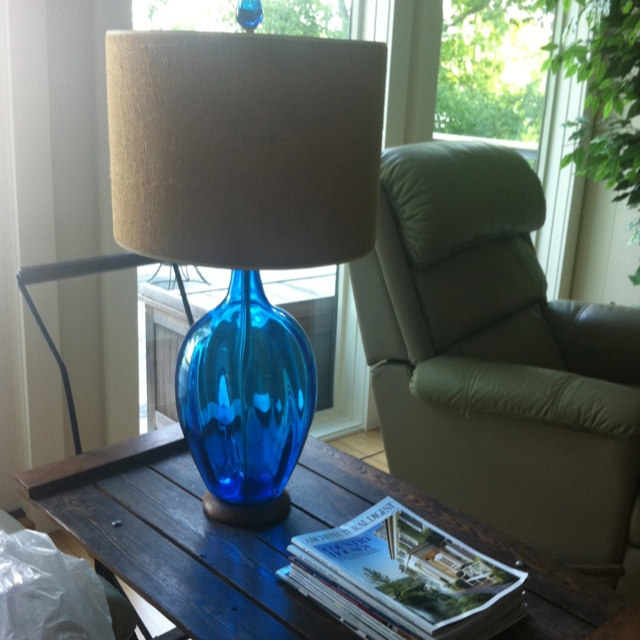 Blenko lamp. Birthday gift from Mom and Dad.