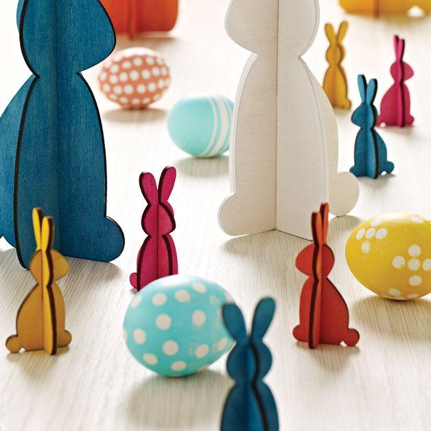 Osterhasen - Osterhasen (4-er Set) - ein Designerstück von Wohnkultur-Berndt bei DaWanda