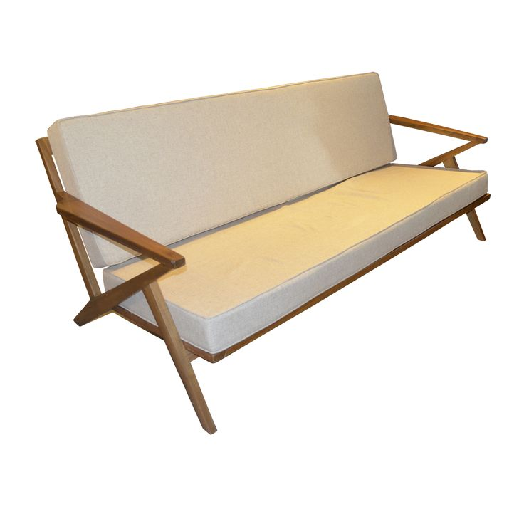 Sofa - 180 Teak Scandinavian. The proportional form of the design combined with the fabric has been a pleasure for those who treasure comfort seat. Its a truly natural joy!!