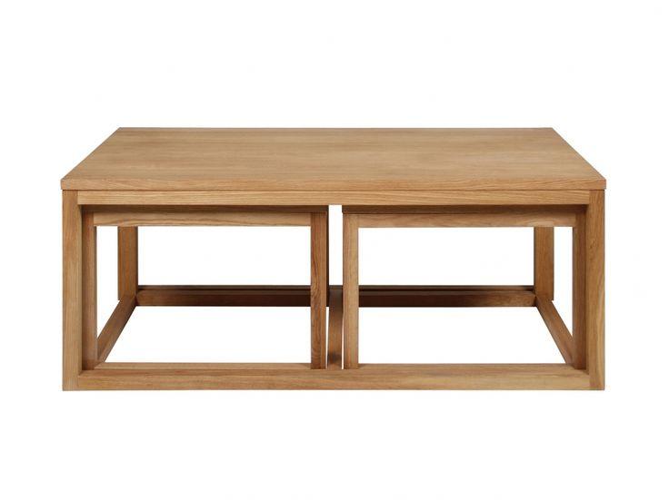 HESTIA Soffbord Set 120 Oljad ek i gruppen Inomhus / Soffbord hos Furniturebox (100-90-104819)