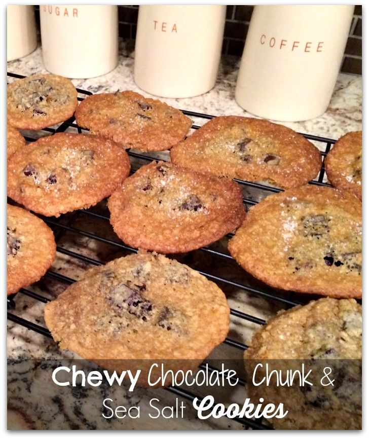 Chewsy chocolate chunk and sea salt cookies - Love sweet and salty